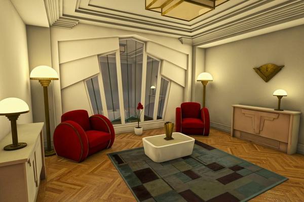 style-art-déco-couleur-taupe-des-murs-et-du-plafond