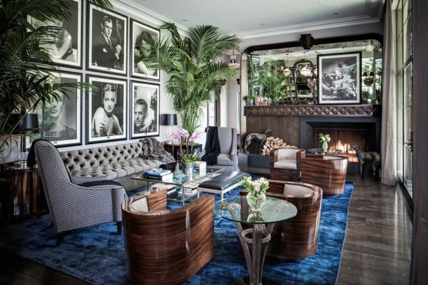 style-art-déco-fauteuils-modernes-déco-vintage-magnifique-un-tapis-bleu-charmant