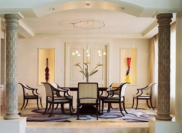 Style art déco, déco superbe dans une salle de séjour