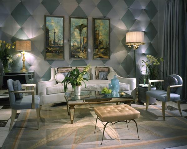 style-art-déco-salle-de-séjour-exceptionnelle-mur-texturé