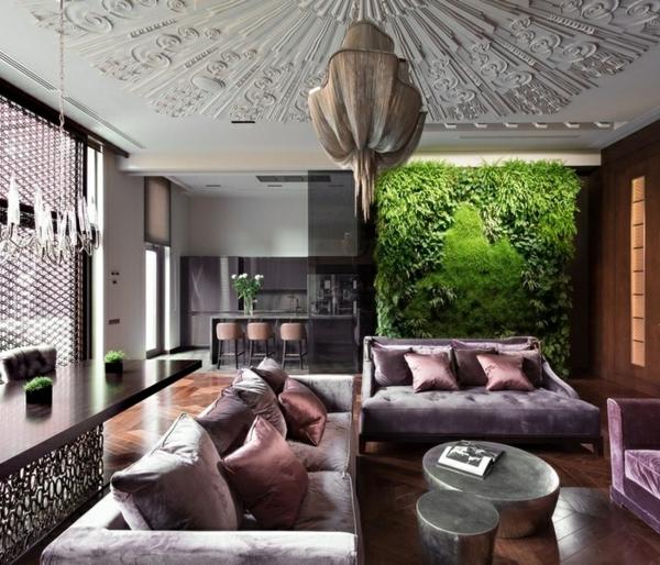 style-art-déco-suspension-moderne-plafond-ornementé