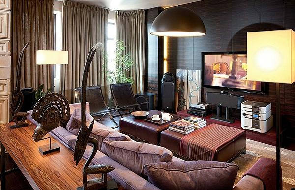 style-art-déco-une-chambre-en-noir-et-marron