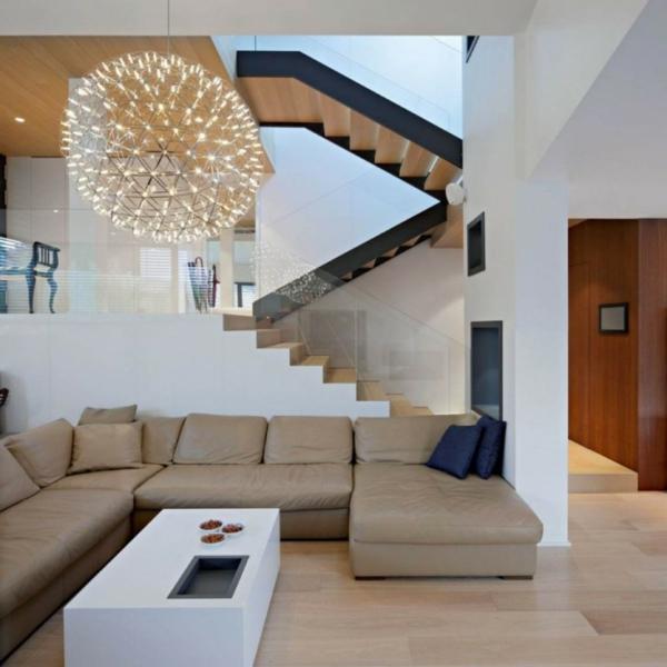 suspension-boule-lampe-pendante-magnifique-sofa-beige-et-table-blanche