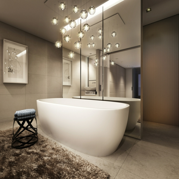 La suspension boule magie et l gance - Suspension salle de bain design ...