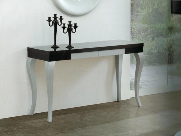 table-console-extensible-et-table-barique-avec-des-pieds-uniaue-et-élégant-et-