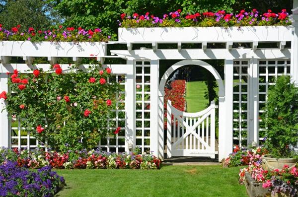 La D Coration Ext Rieure Avec Un Treillis De Jardin