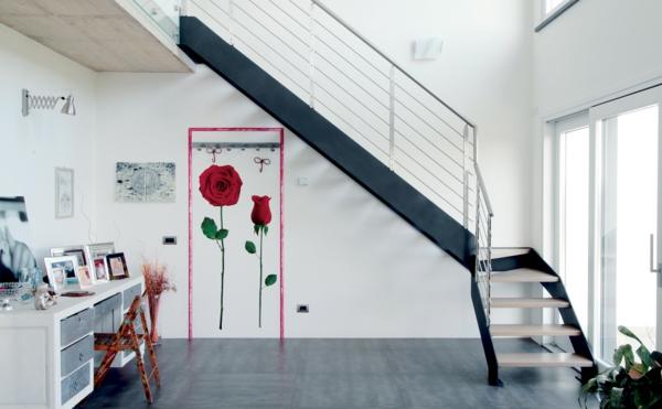 échelle-design-idées-decoration-fleurs