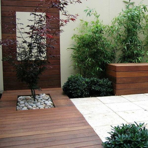 Garden Design With Modern Plant Landscape Ideas Simply: Décoration Avec Un érable Japonais