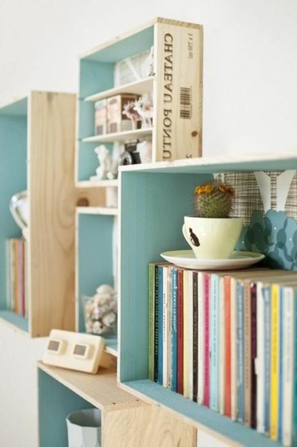 étagère-livres-en-couleur-blue