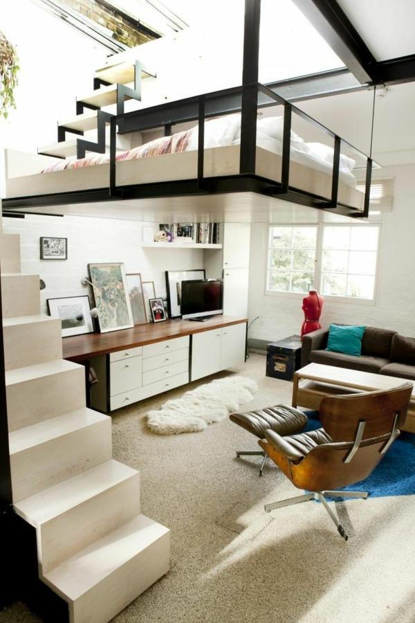 aménagement-petit-espace-innovative-Comment-gaigner-plus-de-espace-pour-chambre-à-coucher-et-salon-idée-créative