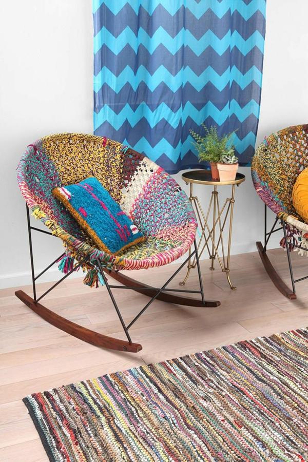 La chaise bascule en 60 photos pour une inspiration for Chaise berceuse