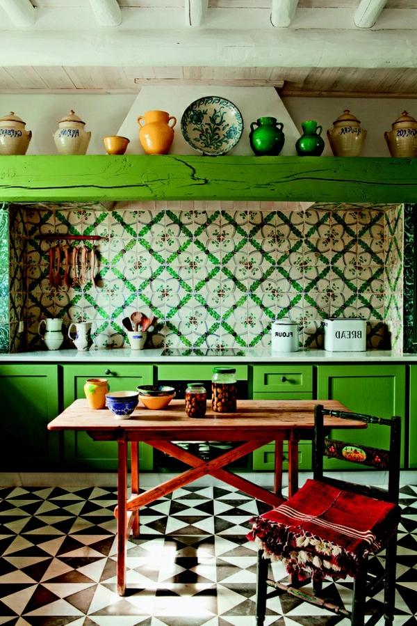 Les plus belles cuisines qui vont vous inspirer for Cuisine peinte en vert