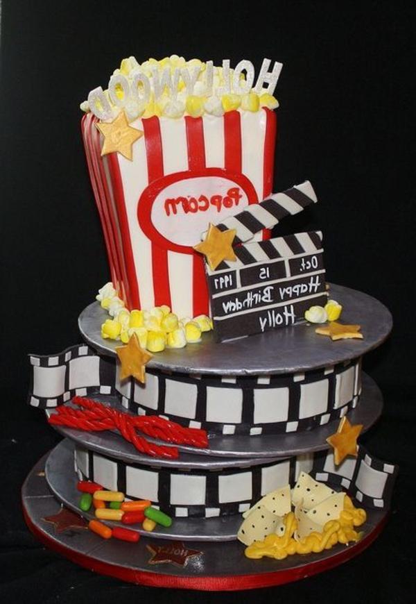 gateau-original-anniversaire-délicieux-thème-film-films-popcorn