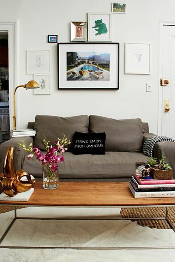 Idées-décoration -salon-avec-combination-florale