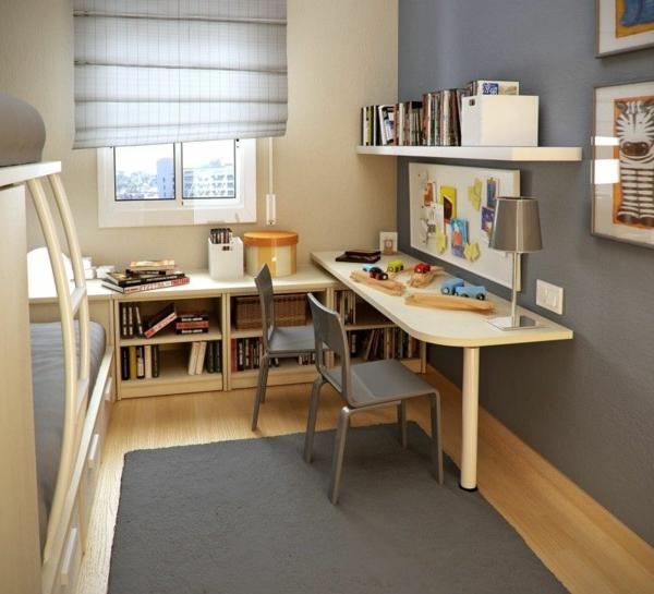 Intérieur- amenagement-petits-espaces-idées-chambre-ado