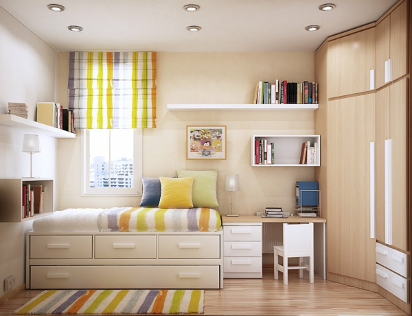 Intérieur- amenagement-petits-espaces-idées-jolie-chambre