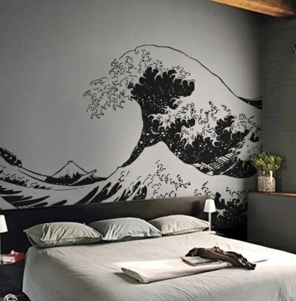 Katsushika-Hokusai-peinture-sur-le-mur-sticker-mer-stylé