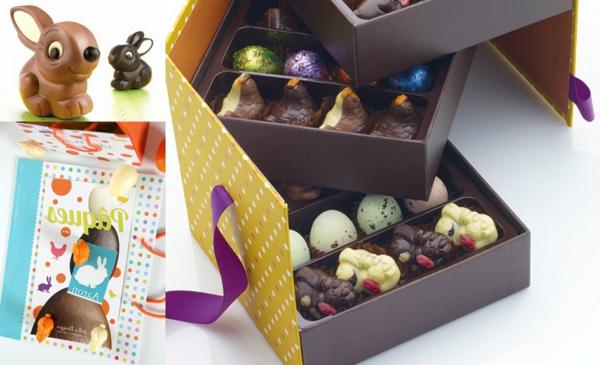 Pâques-fête-chrétienne-chocolat-blanc-et-chocolat-au-lait-boîte