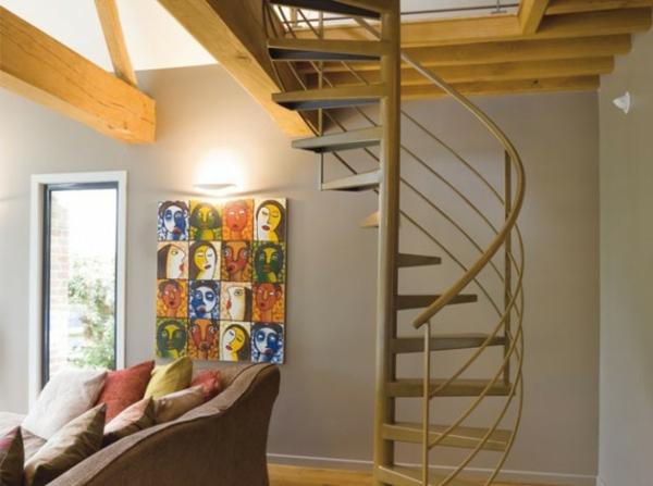Rural-moderne-Escalier-en-colimacon-popart