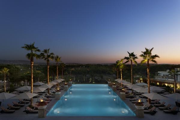 piscine-hôtel-palmes