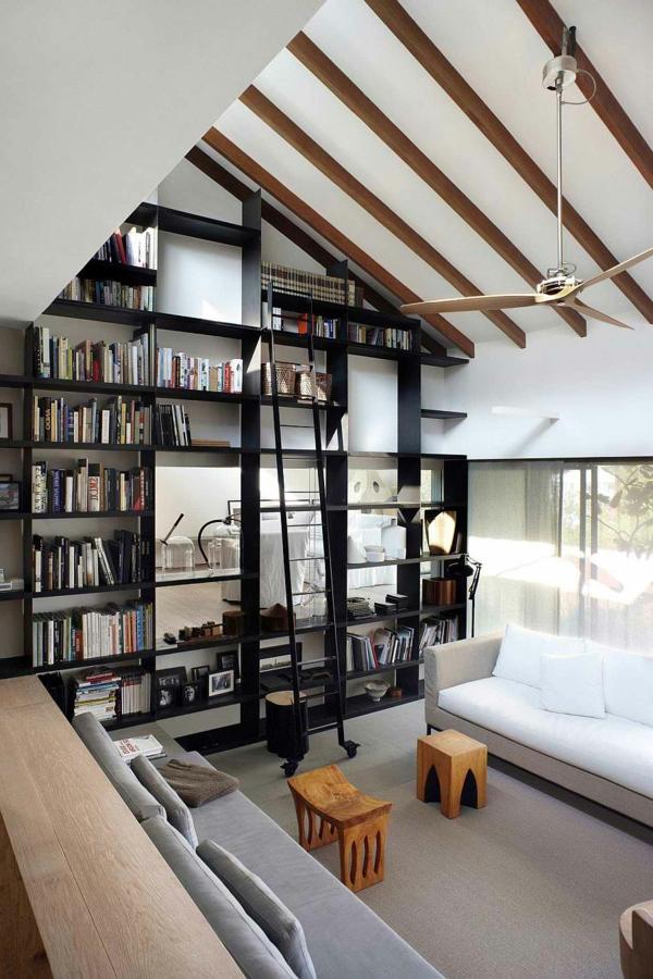 aménagement-petit-espace-bibliothèque-et-salon-pour-sauver-de-l'espace
