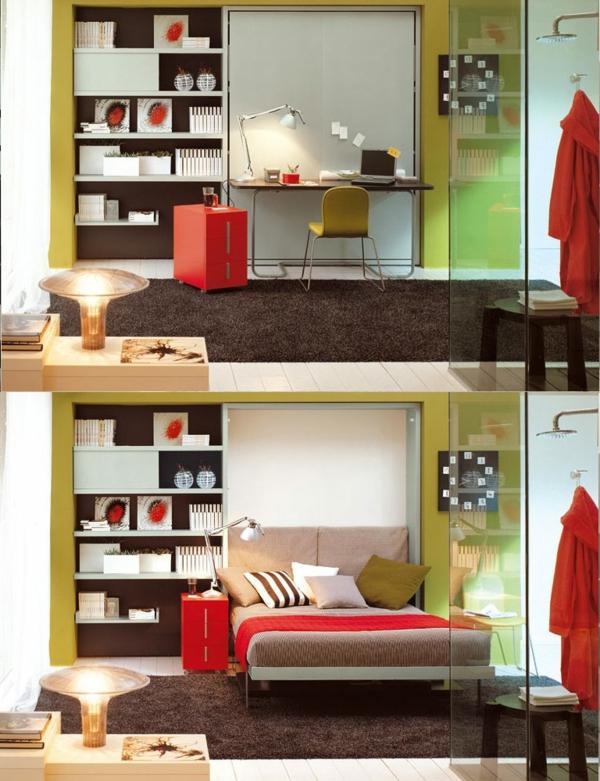 aménagement-créative-chambre-à-coucher-Mobilier-modulaire-pour-gaigner-espace