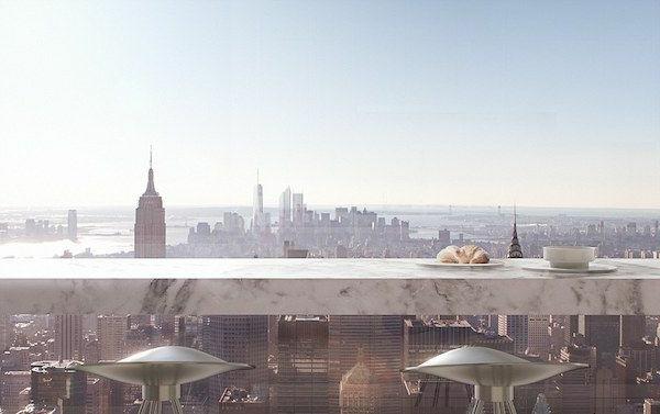 ambiance-belle-vue-de-la-terasse-à-new-york-le-matin