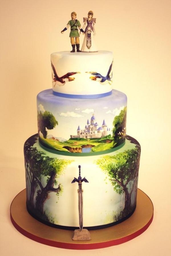 anniversaire-originale-avec-un-gâteau-à-thème-populaire-zelda