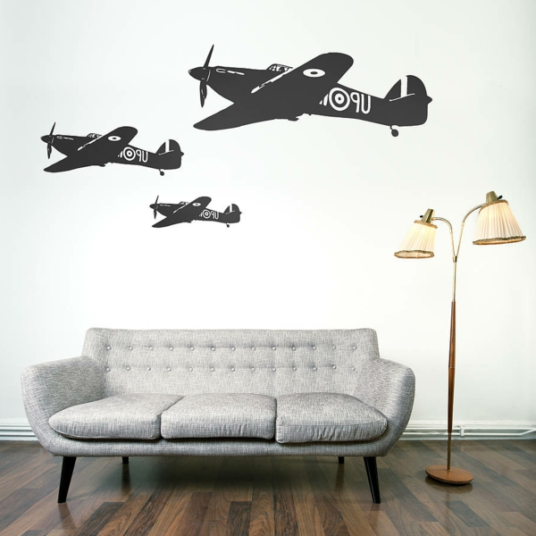 appartament-décoration-aviation-sticker-chambre-adulte-airplane