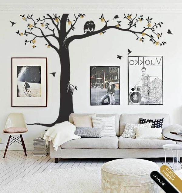 arbre-salon-stickers-chambre-adulte-sofa-blanche-salle-de-séjour
