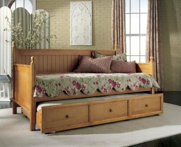 La banquette lit id es pratiques pour l 39 int rieur - Lit banquette avec tiroir lit ...
