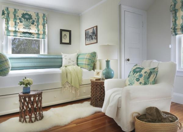 banquette-lit-et-déco-turquoise
