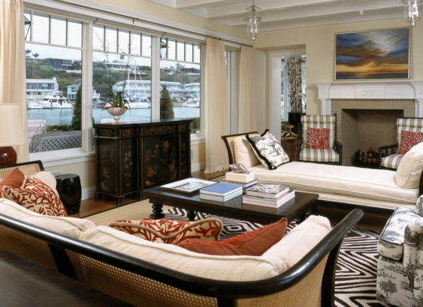 banquette-lit-tapis-géométrique-un-grand-sifa-original