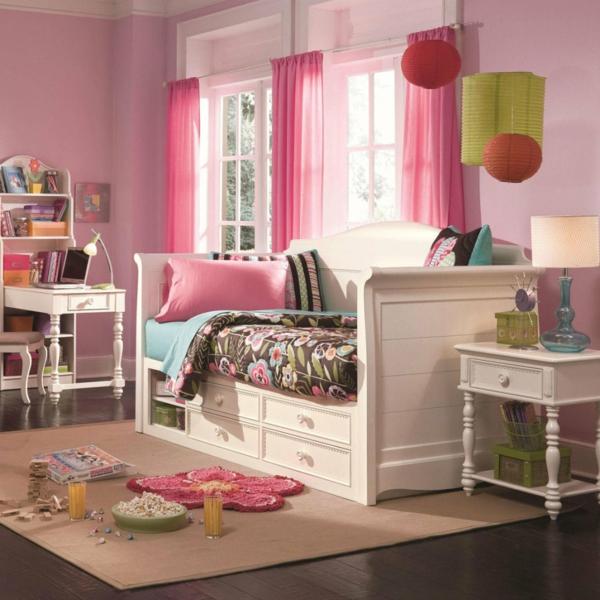 banquette-lit-une-chambre-d'enfant-rose