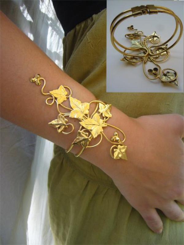 bijoux-elfiques-bracelet-en-métal-jaune