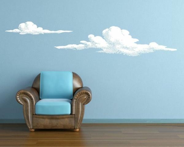 bleue-chambre-nuages-peinture-sticker