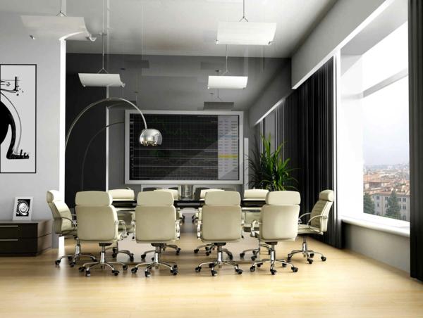 bureau-moderne-à-la-maison-un-hall-de-conférence