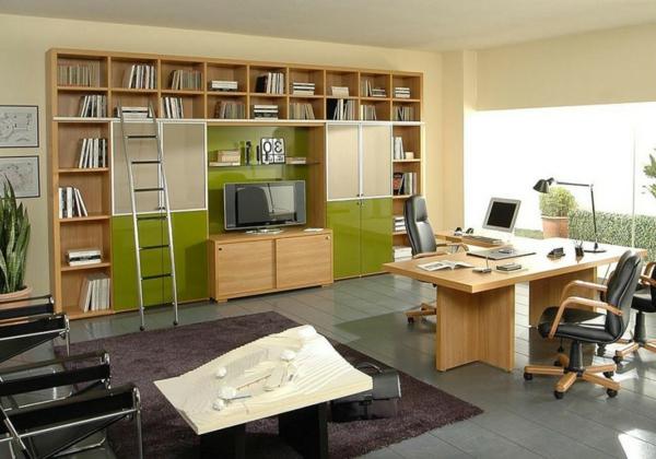 bureau-moderne-étagère-murale-originale