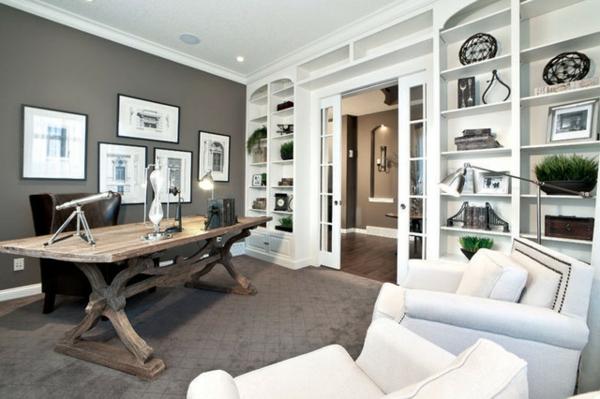 bureau-moderne-bureau-en-bois-industriel-étagère-moderne