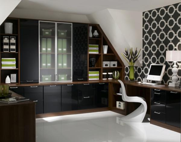 bureau-moderne-chaise-panton-blanche