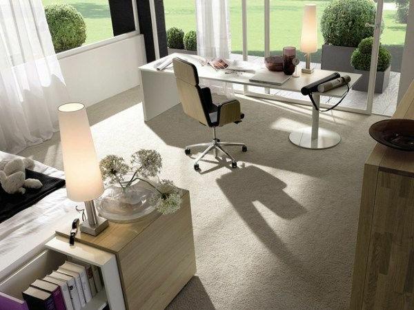 bureau-moderne-en-beige-idées-déco-d'office