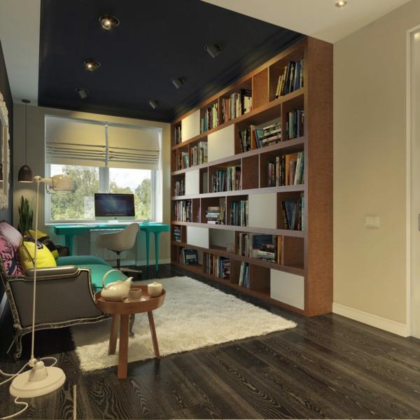 bureau-moderne-espaces-uniques-un-office-vintage-moderne-et-déco-turquoise