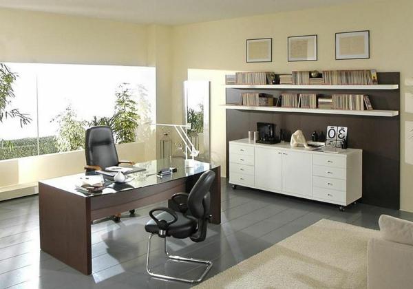 bureau-moderne-intérieur-beige-et-sol-céramique