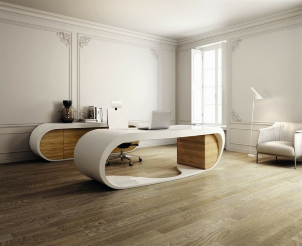 bureau-moderne-intérieur-blanc-sol-stratifié