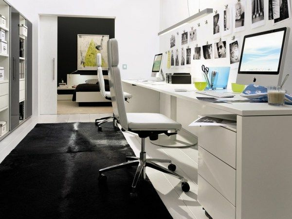 Bureau moderne la maison id es cr atives - Bureau moderne blanc ...