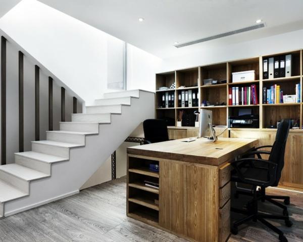 bureau-moderne-sol-gris-stratifié-un-grand-bureau-en-bois-massif