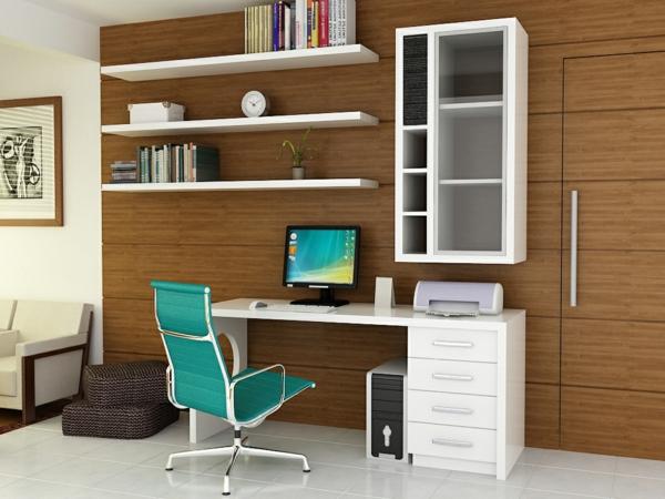 bureau-moderne-sympathique-et-cosy-chaise-verte-originale
