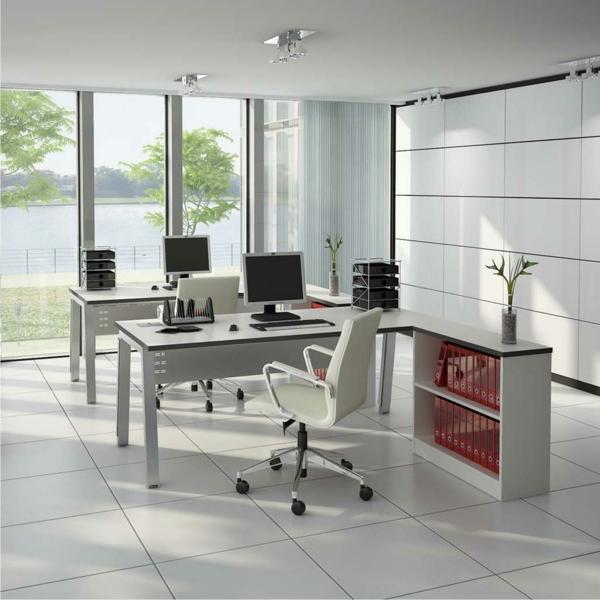 Bureau moderne à la maison - idées créatives - Archzine.fr