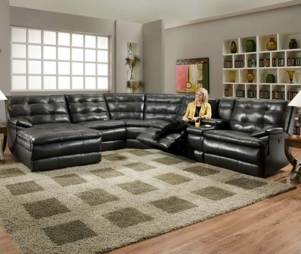 canapé-natuzzi-avec-rallonge-et-chaise-longue-en-cuir