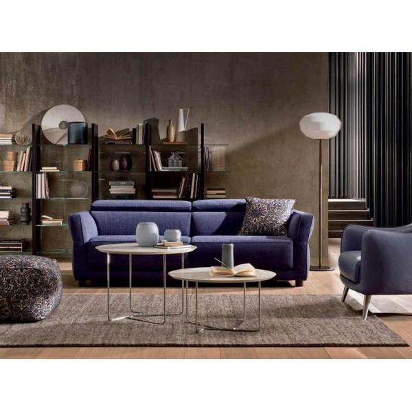 canapé-natuzzi-bleu-intérieur-marron-moderne